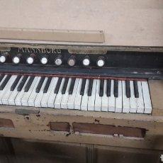 Instrumentos musicales: ORGANO ANTIGUO DE IGLESIA CON PEDADES DE FUELLE MANNBORG ARMONIO TECLADO ANTIGUO 1900. Lote 124432624
