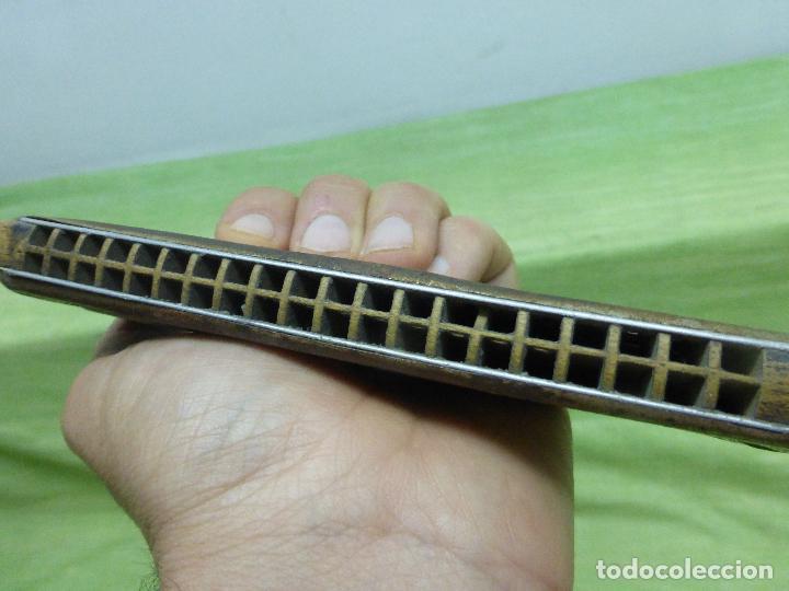 Instrumentos musicales: Antigua Armonica O FADO PORTUGUEZ C de M. HOHNER Made in Germany - Foto 4 - 125226291