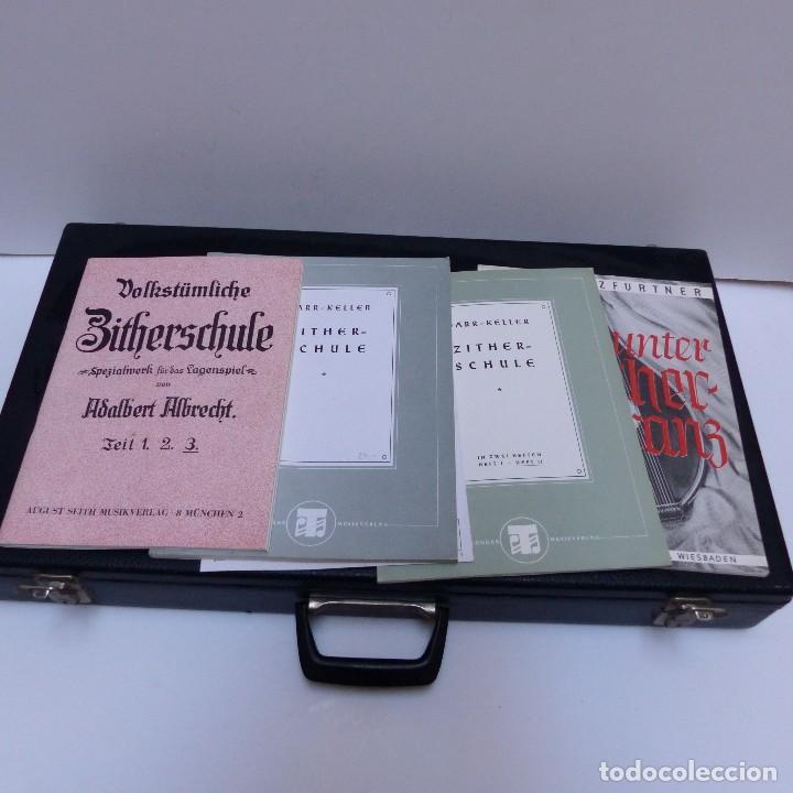 Instrumentos musicales: Estado perfecto. Antigua cítara de Gewa Mittenwald en su caja original. Alemania 1950 - 1960 - Foto 3 - 125346191