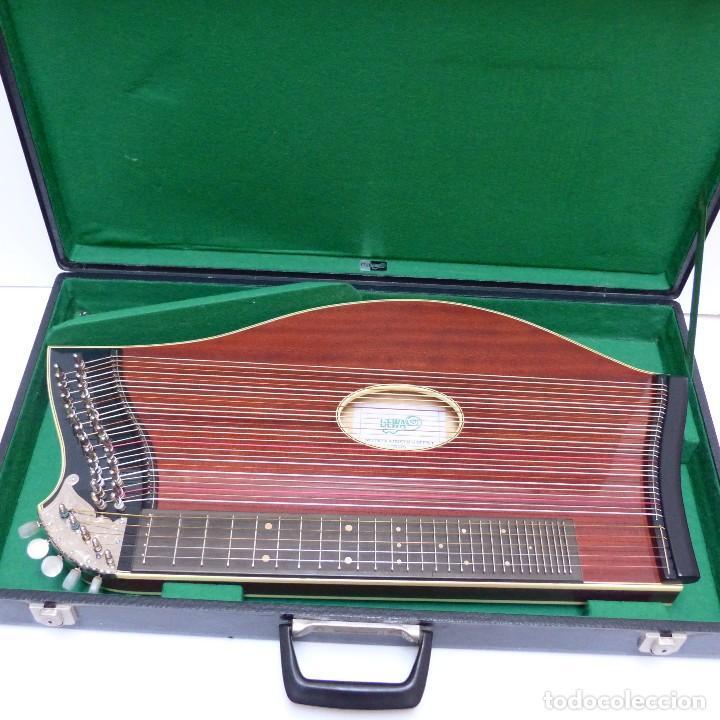 Instrumentos musicales: Estado perfecto. Antigua cítara de Gewa Mittenwald en su caja original. Alemania 1950 - 1960 - Foto 5 - 125346191