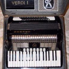 Instrumentos musicales: ACORDEÓN HOHNER VERDI I MADE IN GERMANY CON FUNDA. Lote 123573199