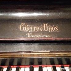 Instrumentos musicales: PIANO ANTIGUO GUARRO E HIJOS BARCELONA. Lote 125853903