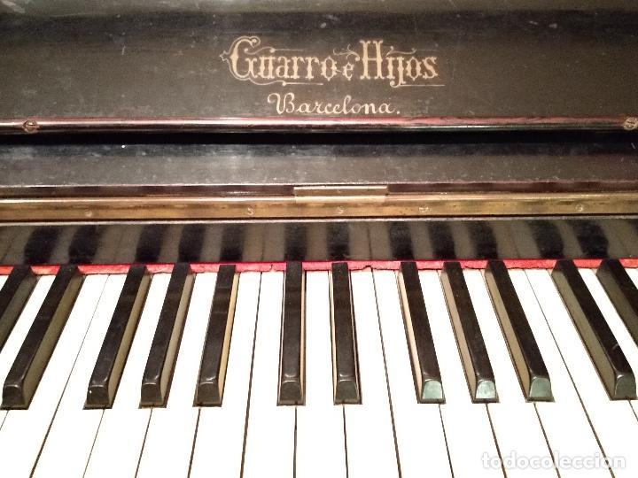 Instrumentos musicales: PIANO ANTIGUO GUARRO E HIJOS BARCELONA - Foto 4 - 125853903