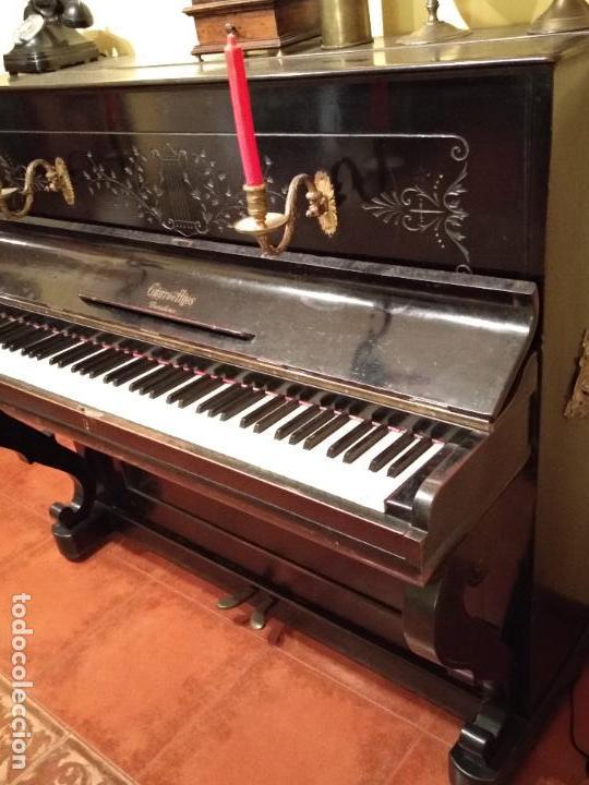 Instrumentos musicales: PIANO ANTIGUO GUARRO E HIJOS BARCELONA - Foto 5 - 125853903