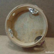 Instrumentos musicales: PANDERETA DE MADERA Y PIEL. Lote 126406227