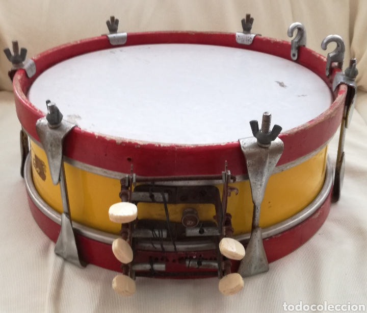 ANTIGUO TAMBOR BANDERA ESPAÑOLA. (Música - Instrumentos Musicales - Percusión)