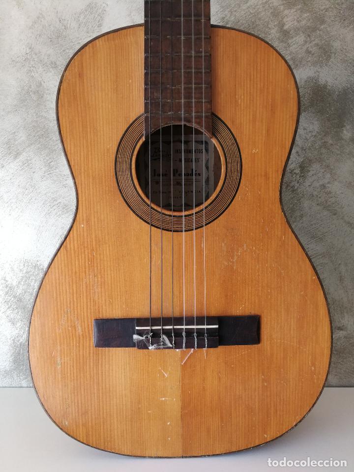 Instrumentos musicales: ANTIGUA GUITARRA ESPAÑOLA JOSÉ PENADES - Foto 2 - 127771091