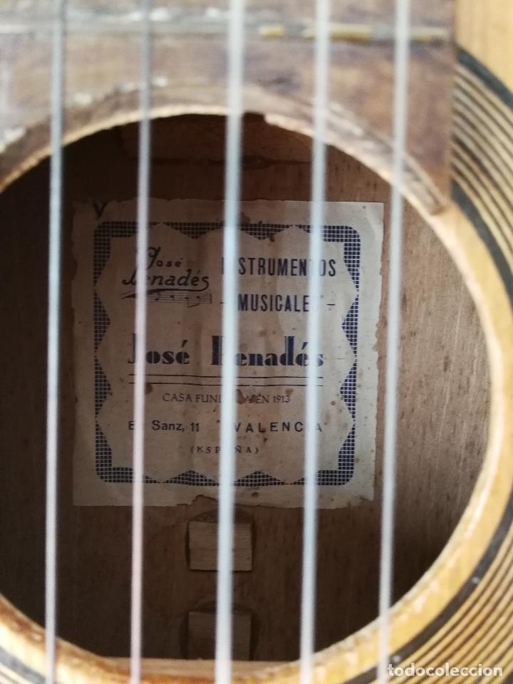 Instrumentos musicales: ANTIGUA GUITARRA ESPAÑOLA JOSÉ PENADES - Foto 5 - 127771091