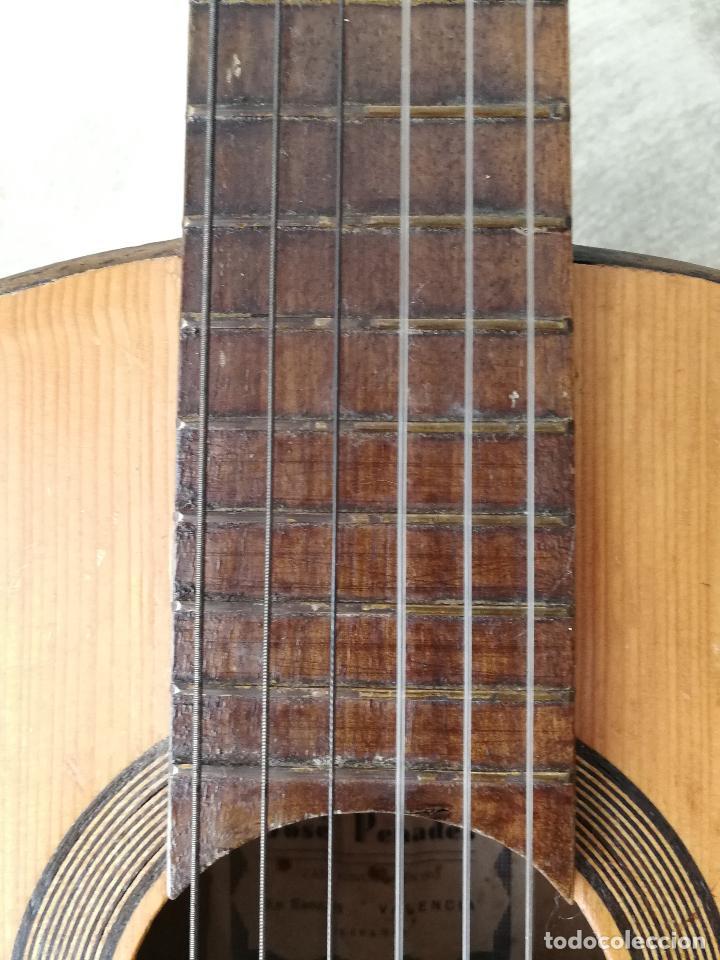Instrumentos musicales: ANTIGUA GUITARRA ESPAÑOLA JOSÉ PENADES - Foto 6 - 127771091