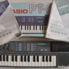 Instrumentos musicales: TECLADO VINTAGE CASIO PT 87 CON CAJA E INSTRUCIONES - MADE IN JAPAN. Lote 127780567