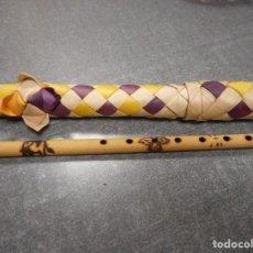 Instrumentos musicales: FLAUTA DE CAÑA - CON FUNDA - ARTESANA. Lote 127958279