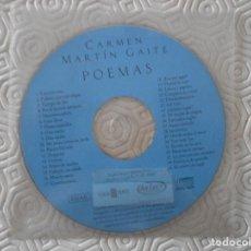 Instrumentos musicales: CARMEN MARTIN GAITE. POEMAS. COMPACTO CON 33 POEMAS.. Lote 128041727