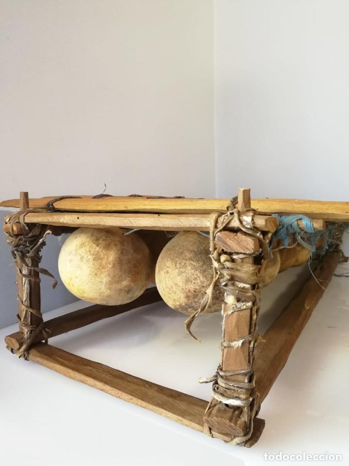 Instrumentos musicales: BALAFÓN - ANTIGUO INSTRUMENTO AFRICANO - GRAN SONIDO - DECORADO Y HECHO A MANO - Foto 3 - 128325471