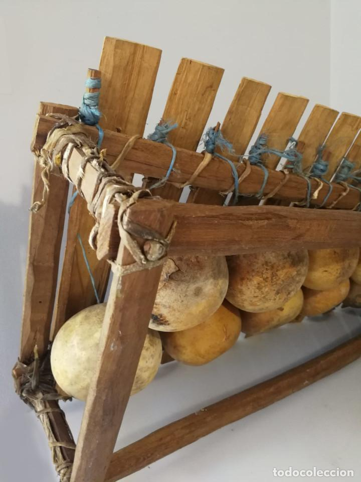 Instrumentos musicales: BALAFÓN - ANTIGUO INSTRUMENTO AFRICANO - GRAN SONIDO - DECORADO Y HECHO A MANO - Foto 4 - 128325471