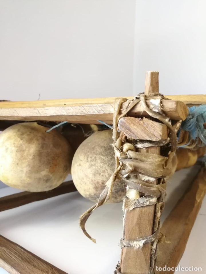 Instrumentos musicales: BALAFÓN - ANTIGUO INSTRUMENTO AFRICANO - GRAN SONIDO - DECORADO Y HECHO A MANO - Foto 7 - 128325471