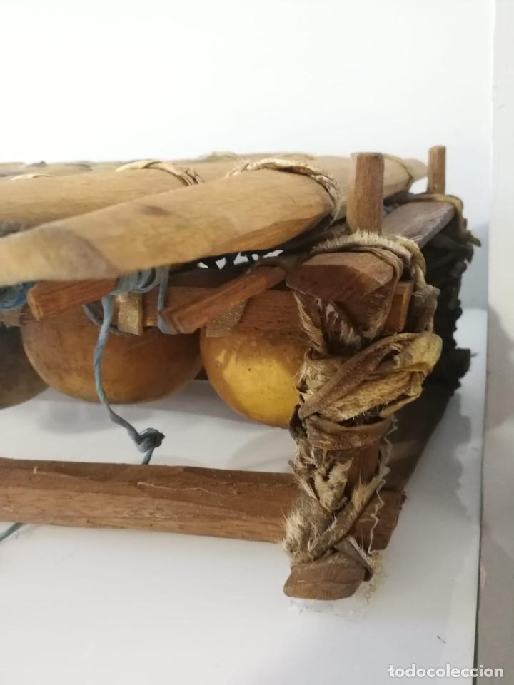 Instrumentos musicales: BALAFÓN - ANTIGUO INSTRUMENTO AFRICANO - GRAN SONIDO - DECORADO Y HECHO A MANO - Foto 8 - 128325471