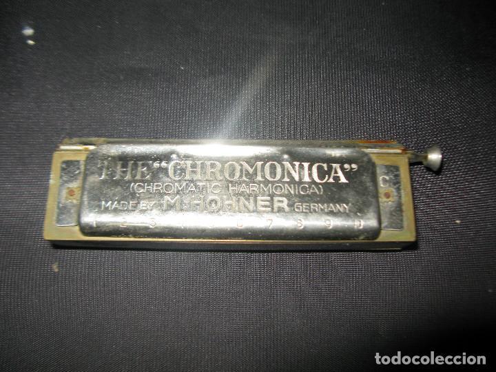 MAGNÍFICA ARMÓNICA CROMÁTICA ¨M. HOHNER THE CHROMONICA (Música - Instrumentos Musicales - Viento Metal)