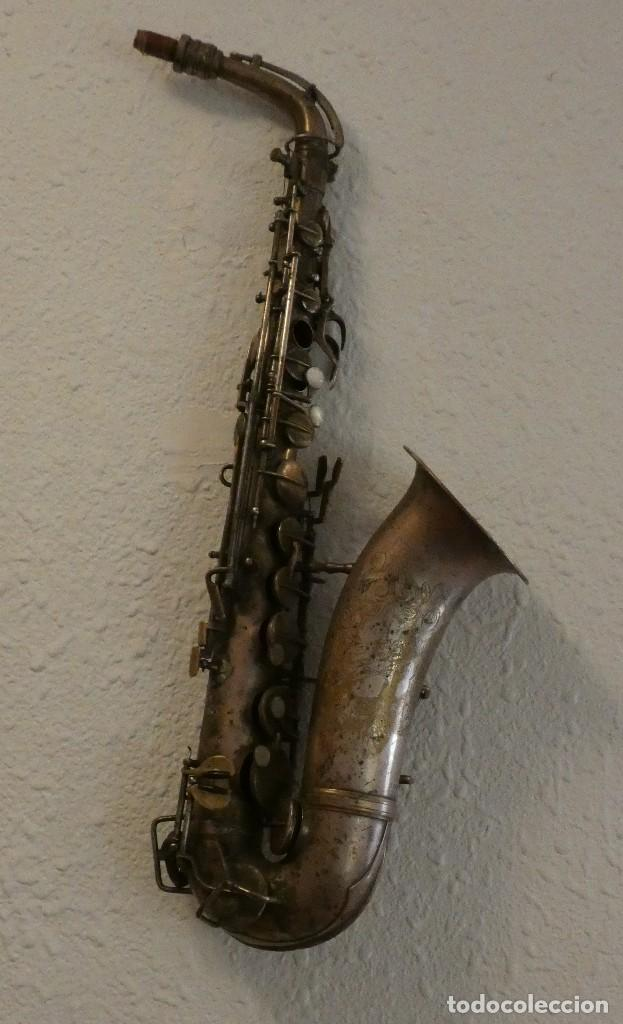 SAXOFON G H HUILER PARA DECORACION (Música - Instrumentos Musicales - Viento Metal)
