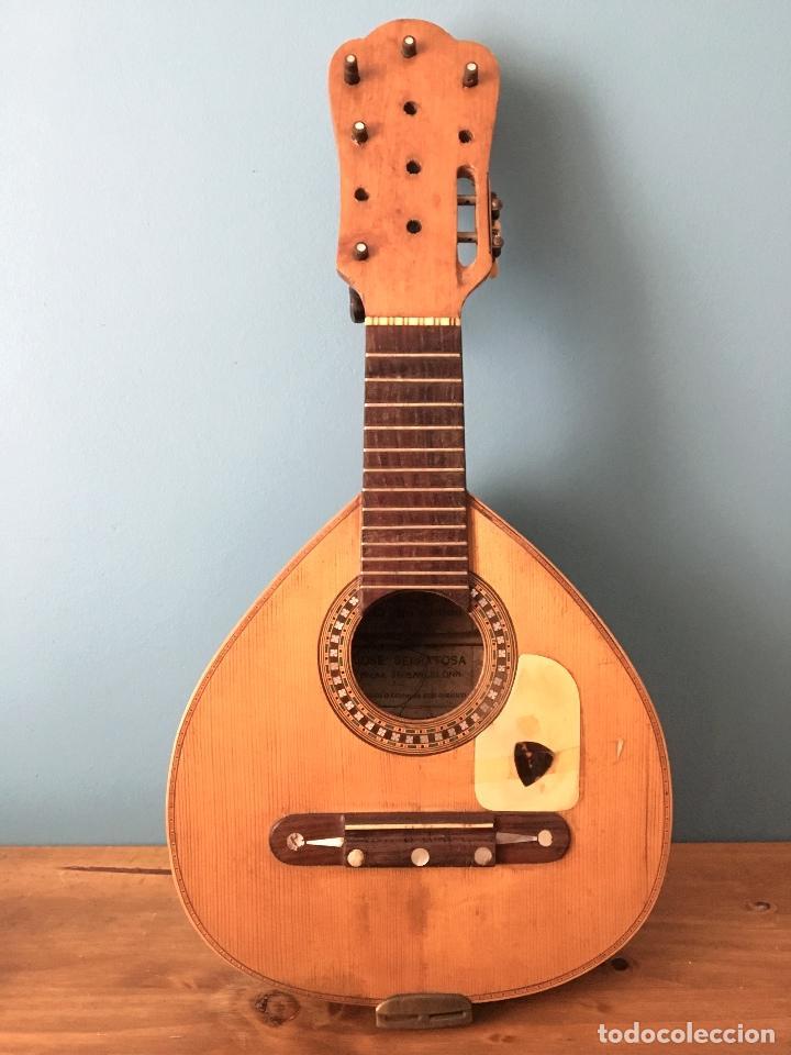 PRECIOSA BANDURRIA JOSÉ SERRATOSA - ANTIGUA FABRICA DE GUITARRA C/ ANCHA 50 BARCELONA (Música - Instrumentos Musicales - Cuerda Antiguos)