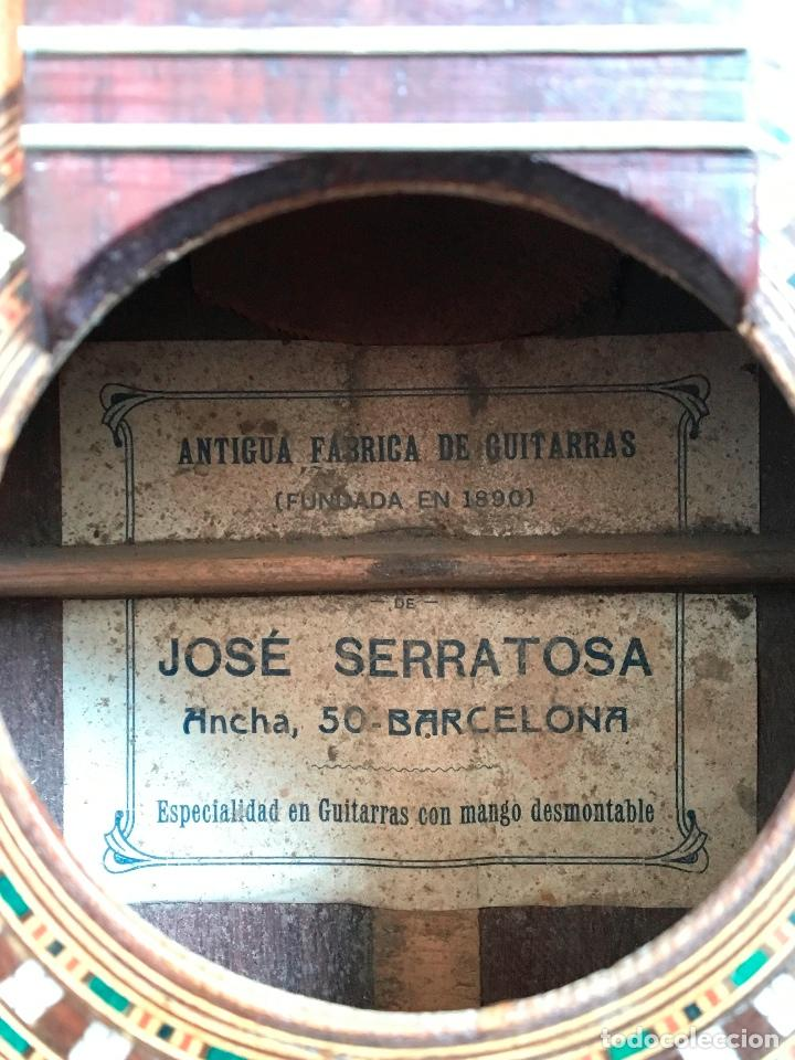 Instrumentos musicales: Preciosa Bandurria JOSÉ SERRATOSA - Antigua fabrica de Guitarra C/ Ancha 50 Barcelona - Foto 5 - 130788444
