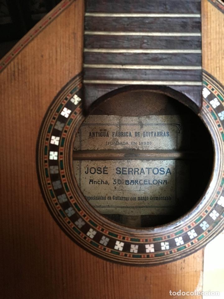 Instrumentos musicales: Preciosa Bandurria JOSÉ SERRATOSA - Antigua fabrica de Guitarra C/ Ancha 50 Barcelona - Foto 16 - 130788444