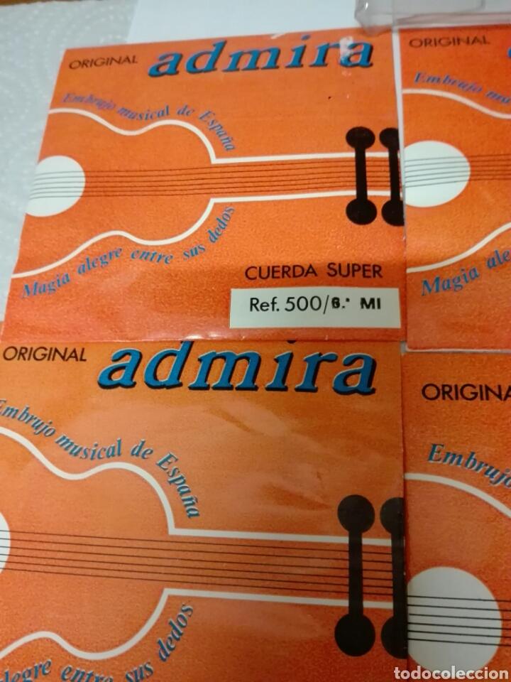 Instrumentos musicales: CUERDAS DE GUITARRA MARCA ADMIRA EN ESTUCHE CON ETIQUETA DE GALERIAS PRECIADOS - Foto 2 - 130985815