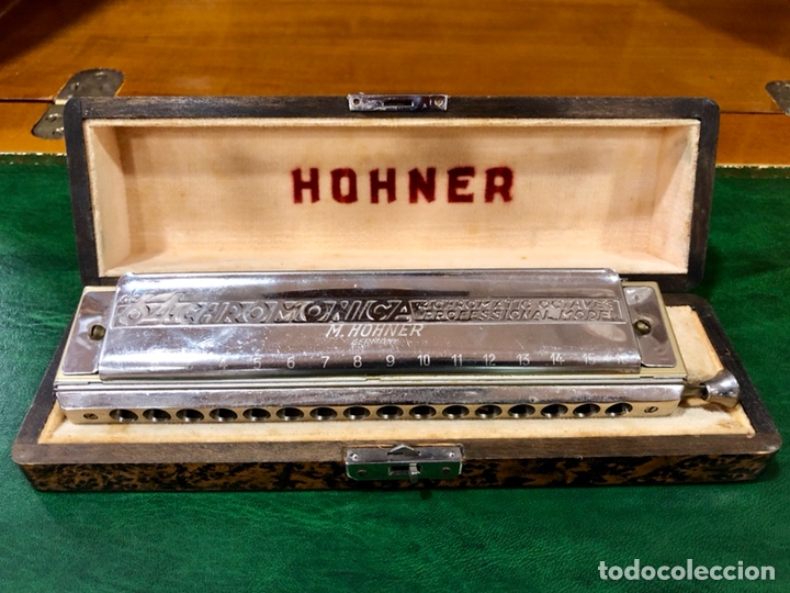 ARMÓNICA PARA COLECCIONISTAS. M. HOHNER, GERMANY. THE 64 CHROMONICA. (Música - Instrumentos Musicales - Viento Metal)