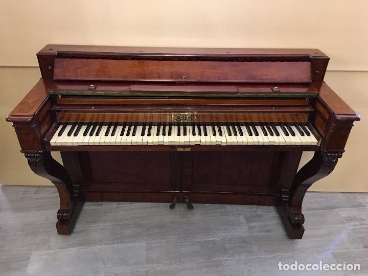 Instrumentos musicales: ANTIGUO PIANO CONSOLA PAPE PARIS - Foto 3 - 131974722