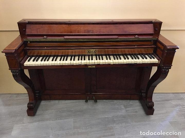 Instrumentos musicales: ANTIGUO PIANO CONSOLA PAPE PARIS - Foto 4 - 131974722