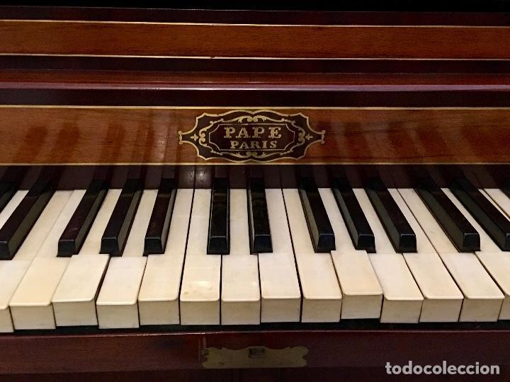 Instrumentos musicales: ANTIGUO PIANO CONSOLA PAPE PARIS - Foto 5 - 131974722