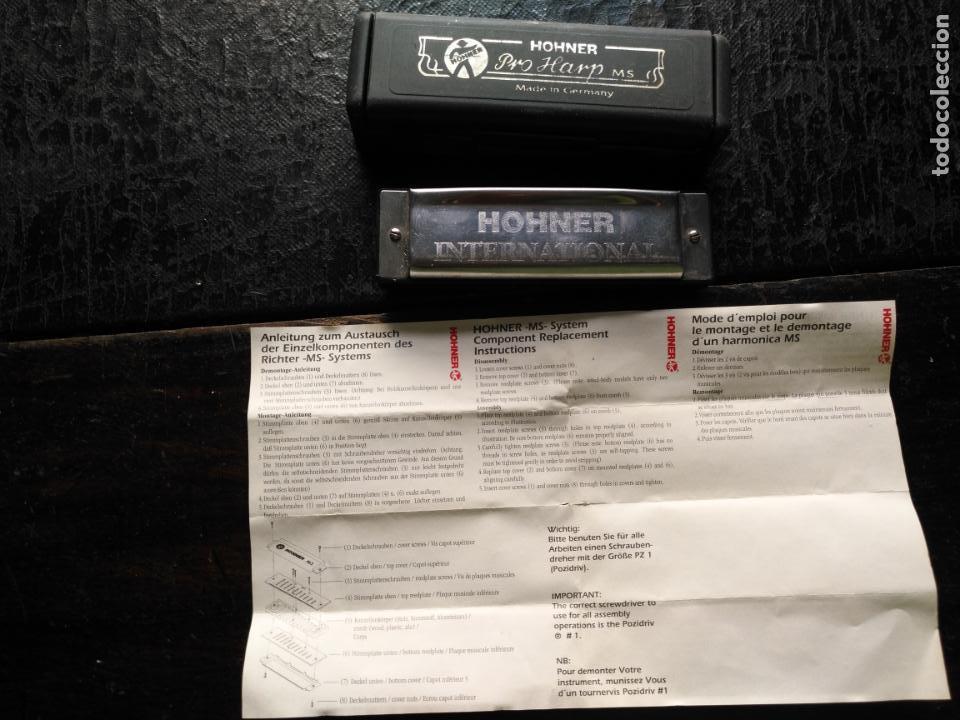ANTIGUA ARMONICA HOHNER PRO HARPA MS MADE IN GERMANY (Música - Instrumentos Musicales - Viento Metal)