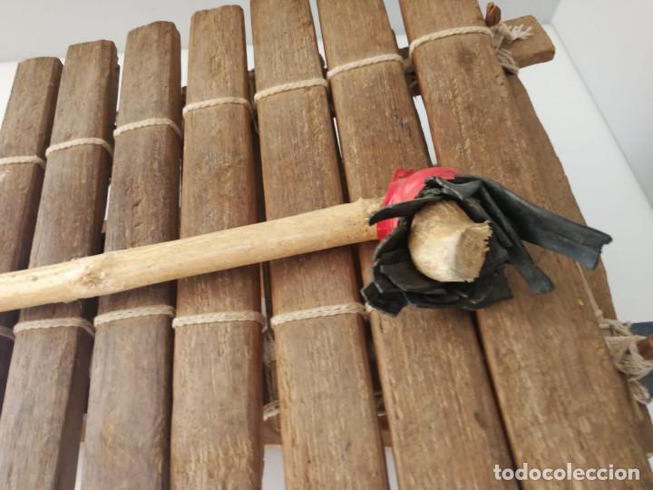 Instrumentos musicales: BALAFÓN - INSTRUMENTO AFRICANO - HECHO A MANO XILOFONO - Foto 5 - 132308706