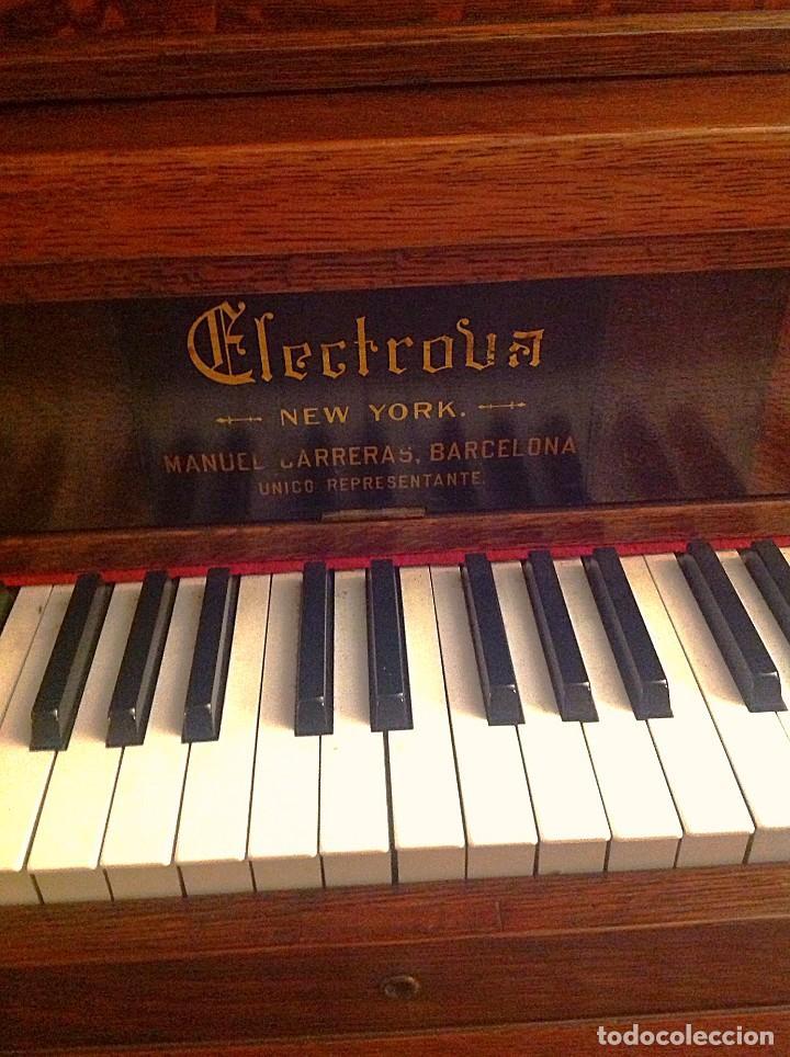 Instrumentos musicales: Antiguo Piano Americano New York Modernista De Roble Con Banqueta - Foto 4 - 132634662