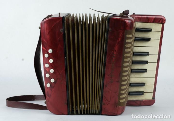 Instrumentos musicales: Acordeon Hohner Mignoni años 50-60 - Foto 2 - 132656470