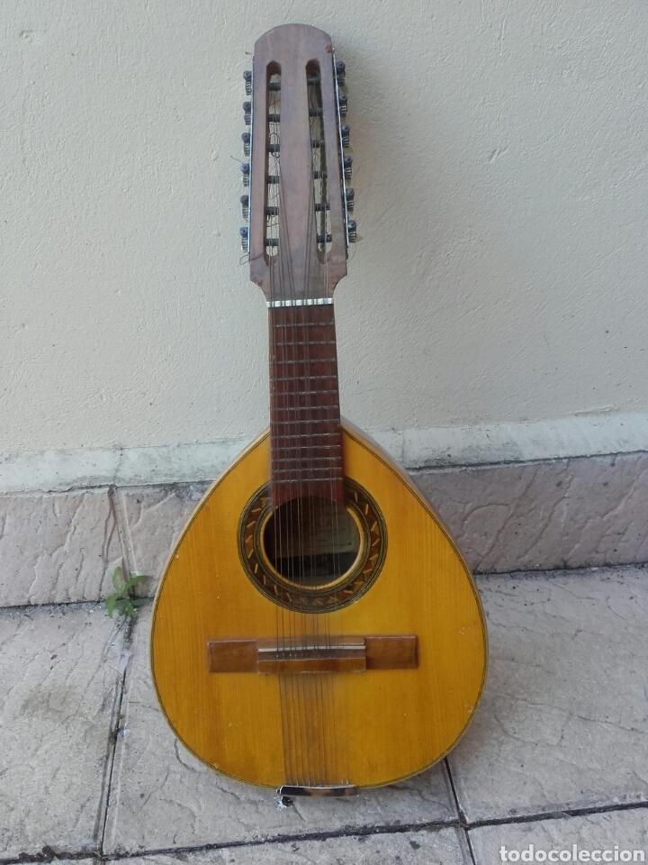 ANTIGUA BANDURRIA, ROCA, VALENCIA, CON ETIQUETA, BUEN ESTADO Y FUNDA DE TELA (Música - Instrumentos Musicales - Guitarras Antiguas)
