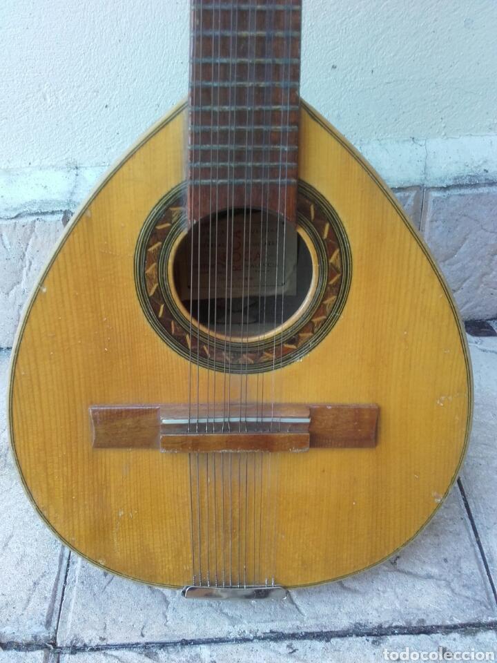 Instrumentos musicales: ANTIGUA BANDURRIA, ROCA, VALENCIA, CON ETIQUETA, BUEN ESTADO Y FUNDA DE TELA - Foto 2 - 133085101