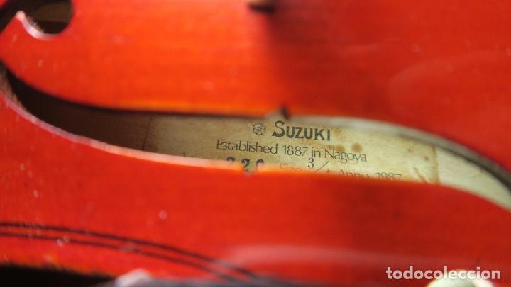 Instrumentos musicales: VIOLIN ORIGINAL 3/4 NAGOYA SUZUKI - Foto 5 - 133293122