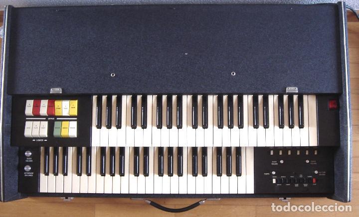 ORGANO TECLADO - CRB DIAMOND 729-A -MADE IN ITALY 1978 ¡¡FUNCIONANDO¡¡ PIANO AMPLIFICADOR 729A (Música - Instrumentos Musicales - Teclados Eléctricos y Digitales)