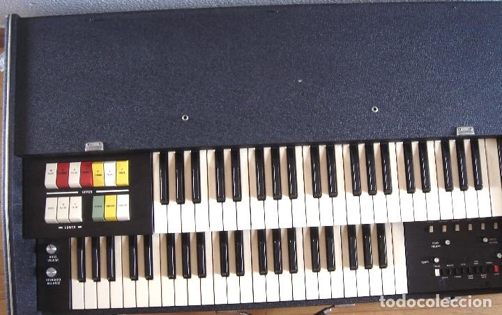 Instrumentos musicales: ORGANO TECLADO - CRB DIAMOND 729-A -MADE IN ITALY 1978 ¡¡FUNCIONANDO¡¡ PIANO AMPLIFICADOR 729A - Foto 2 - 133664922