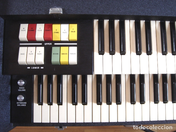 Instrumentos musicales: ORGANO TECLADO - CRB DIAMOND 729-A -MADE IN ITALY 1978 ¡¡FUNCIONANDO¡¡ PIANO AMPLIFICADOR 729A - Foto 4 - 133664922