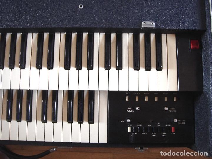 Instrumentos musicales: ORGANO TECLADO - CRB DIAMOND 729-A -MADE IN ITALY 1978 ¡¡FUNCIONANDO¡¡ PIANO AMPLIFICADOR 729A - Foto 6 - 133664922