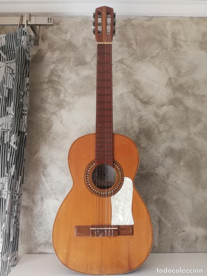 ANTIGUA GUITARRA ESPAÑOLA ENRIQUE VELIOMAR MADRID (Música - Instrumentos Musicales - Guitarras Antiguas)