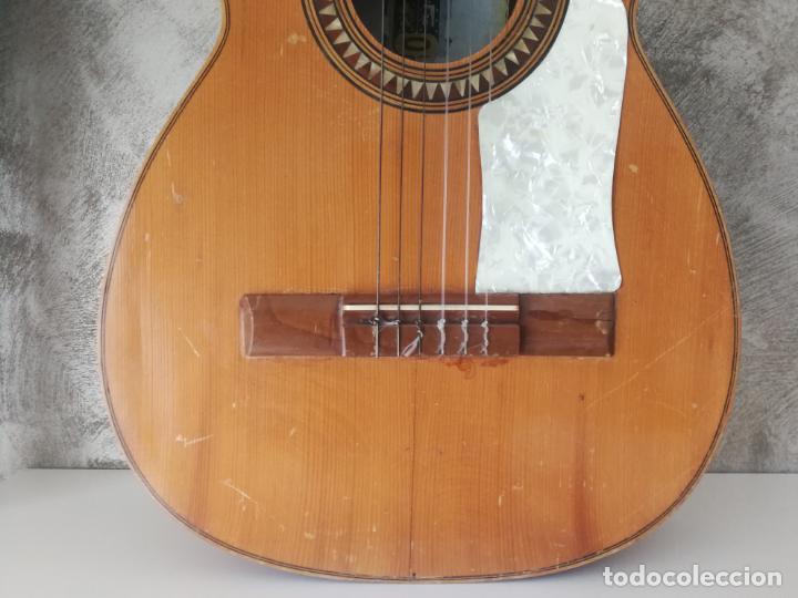 Instrumentos musicales: ANTIGUA GUITARRA ESPAÑOLA ENRIQUE VELIOMAR MADRID - Foto 2 - 133809958
