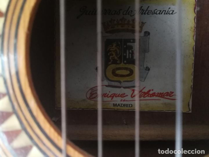 Instrumentos musicales: ANTIGUA GUITARRA ESPAÑOLA ENRIQUE VELIOMAR MADRID - Foto 21 - 133809958