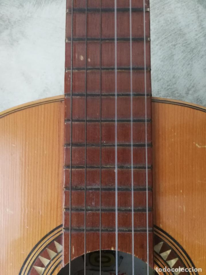 Instrumentos musicales: ANTIGUA GUITARRA ESPAÑOLA ENRIQUE VELIOMAR MADRID - Foto 22 - 133809958