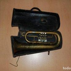 Instrumentos musicales: ANTIGUA TUBA V. JULIÁ BARCELONA FINALES SIGLO XIX CON SU FUNDA ORIGINAL. Lote 133900898
