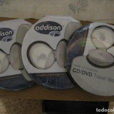 Instrumentos musicales: TRES ESTUCHES PORTA CD / DVD NUEVOS CON CAPACIDAD PARA 12 DISCOS CADA UNO. Lote 136082130