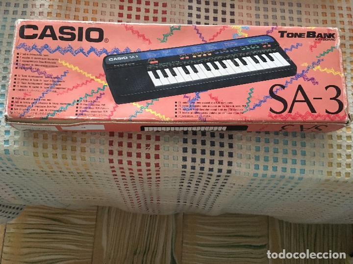 TECLADO PIANO CASIO TONE BANK KEYBOARD SA-3 SA3 EN CAJA Y CON MANUALES KREATEN ORGANILLO ORGANO KREA (Música - Instrumentos Musicales - Teclados Eléctricos y Digitales)