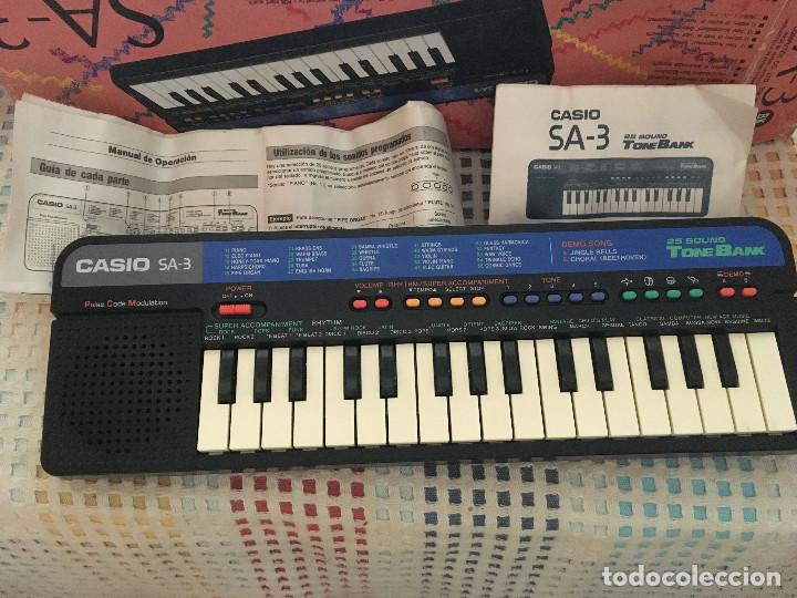 Instrumentos musicales: TECLADO PIANO CASIO TONE BANK KEYBOARD SA-3 SA3 EN CAJA Y CON MANUALES kreaten organillo organo krea - Foto 3 - 136194542