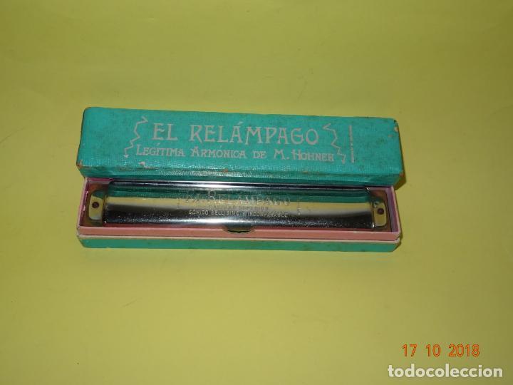 Instrumentos musicales: Antigua Armónica *EL RELÁMPAGO* Legítima Armónica de M. HOHNER Fabricada en Alemania - Foto 5 - 136759866